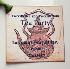 Shabby Chic Tea Party Gift Tag by wildabouttags on Etsy, $5.00