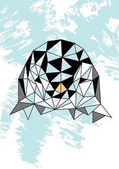 #illustration #penguin