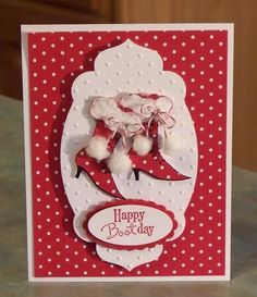 Polka Dot Boot-day using Stampin' Up Bootiful Occasions