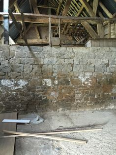 The Farnborough Barn on the day we bought the site.  The photo shows the mezzanine level which is to the end of the main living area and will eventually be a bedroom/study with en-suite and walk-in storage.