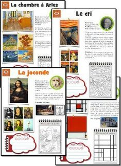 l'art] L'oeuvre d'art de la semaine fiches oeuvres d'art: artist of the week with PDF activity sheet. Also has timeline and student evaluationfiches oeuvres d'art: artist of the week with PDF activity sheet. Also has timeline and student evaluation French Education, Art Education, History Education, Education Quotes, Teaching French, Teaching Art, History Memes, Art History, History Museum
