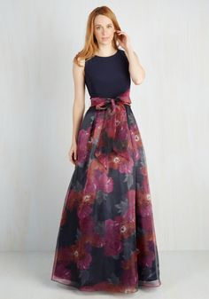 Ballroom With a View Dress. Even the gardens you admire from the balcony cant rival your beauty as you spin in this elegant gown. #multi #modcloth