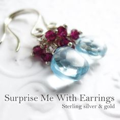 *Monthly Subscription* The Surprise Me With Earrings box - sterling silver and 14k gold filled hooks