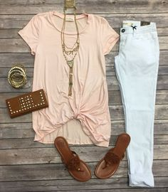 Knotted Top: Blush from privityboutique