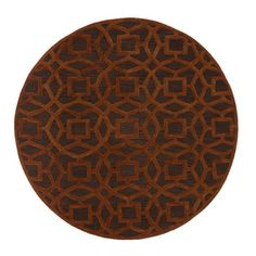 Dream Hand Tufted Round Rug in Chocolate / Rust