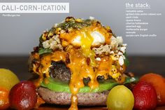 Cali-Corn-Ication Burger Recipe via @gpellegrini