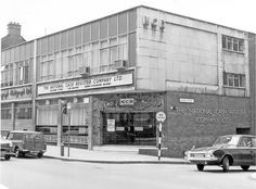 West Street at junction with Orange Street, No National Cash Register Co. Cash Register, My Town, Classic Mini, Sheffield, Yorkshire, Computers, Accounting, 1960s, Adventure
