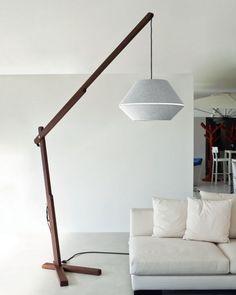 wood floor lamp modern design living room lighting ideas