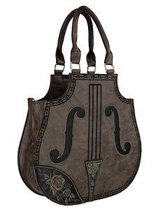 Sac marron chocolat en forme de violon gothic lolita sweet 94acf9010ebad