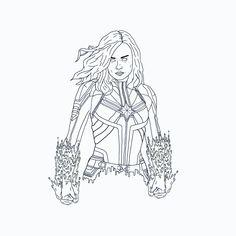 Captain Marvel tattoo idea by: Kaue Muniz Grime Art Marvel Tattoos, Marvel Drawings, Captain Marvel, Pencil Drawings, Darth Vader, Fictional Characters, Drawings, Fantasy Characters