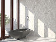 'Kekule St Moritz' polygon natural stone tiles from Skheme. Marble Look Tile, St Moritz, Tile Showroom, Family Bathroom, Stone Tiles, Bathroom Furniture, Bathroom Inspiration, Wall Tiles, Relax