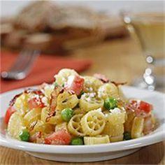 Mini Wheels with Peas, Ham and Tomato - Allrecipes.com