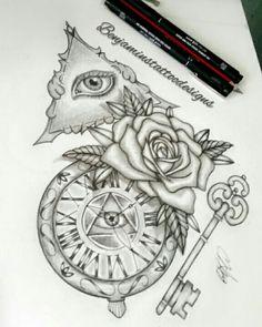 Fob and key - half sleeve design. Key Tattoo Designs, Sleeve Designs, Half Sleeves, Tattoos, Tatuajes, Tattoo, Arm Tattoos, Tattos, Tattoo Designs