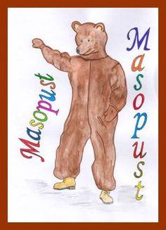 Medvěd – tradiční masopustní maska Masky, Hana, Petra, Scooby Doo, Fictional Characters, Carnavals, Fantasy Characters