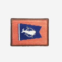 c9f16ced13d Smathers   Branson Nantucket Burgee Flag Needlepoint Card Wallet