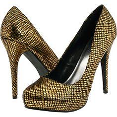 "Michael Antonio ""Loveme"" metallic gold shoes"
