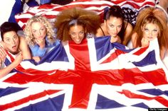 While on the talk show The Real, Mel B revealed all the Spice Girls will be at the royal wedding, but now, Mel C says she hasn't been invited. Emma Bunton, Geri Halliwell, Royal Albert Hall, Union Jack, Cannes, Spice Girls Songs, Victoria Beckham, La Girl, Superhero Movies