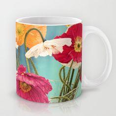 Bright Dancers - Vintage toned poppy flower still life Mug