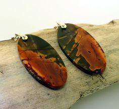 Cherry Creek Jasper Earrings Large Gemstone by KathrynRiechert