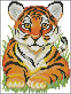 Много схем (Волки, тигры, кошки, лисы, ящерицы)   biser.info - всё о бисере и бисерном творчестве