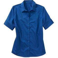size 3x, George Women's Plus-Size Career Short Sleeve Button Front Shirt