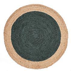 Round carpet made of cedar green jute – NAÏA – cm – round carpets Tapis Design, Jute Rug, Carpet, Servent, Antiques, Green, Diy, Handmade, Container