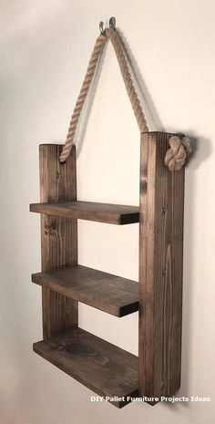 Rustic ladder shelf Rustic wood and rope ladder shelf .- Rustikales Leiter-Regal Rustikales Holz- und Strickleiter-Regal # Leiter … Rustic Ladder Shelf Rustic Wood and Rope Ladder Shelf # Ladder # - Woodworking Garage, Woodworking Workshop, Woodworking Furniture, Woodworking Quotes, Woodworking Techniques, Popular Woodworking, Woodworking Jigsaw, Woodworking Organization, Woodworking Chisels