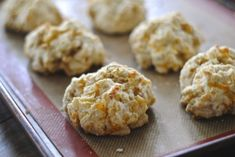Apple Cheddar Biscuits by Fat Girl Trapped In A Skinny Body on bakedbyrachel.com