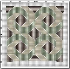 bargello swirls needlepoint design chart A