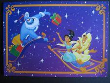 UNUSED vintage greeting card Disney Christmas Aladdin Jasmine & Genie as Santa Disney Christmas Cards, Christmas Greetings, Aladdin And Jasmine, Book Tv, Vintage Greeting Cards, Vintage Disney, Santa, Fun, Painting