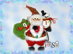 Санта и ученый снеговик Клаус - Мой мир, моя душа, мои петельки... - Галерея - Форум почитателей амигуруми (вязаной игрушки)