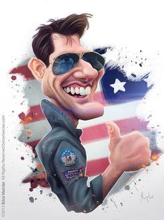 Caricature de Tom Cruise par Brice Mercier / Bubble Com.