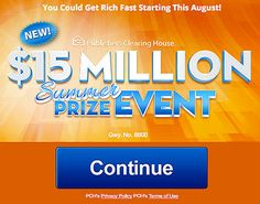 PCH $15 Million Superprize