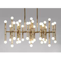 Modern Lighting   Meurice Rectangle Chandelier Ceiling Lamp   Jonathan Adler