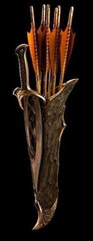 Tauriel quiver and arrows and dagger. different! like the natural texture to it!