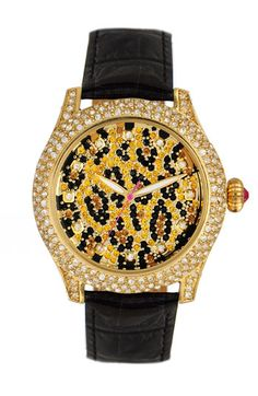 Betsey Johnson 'Bling Bling Time' Leopard Dial Watch    I might just need 2 leopard watches...