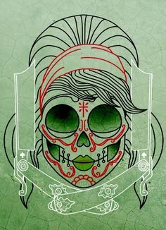 Betty Mexican Skull Tattoo by ~someofthathomegrown
