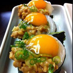 Natto and egg