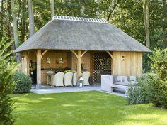 What a pool house!  From BoGarden, in Belgium https://www.bogarden.be/nl/project/cottage-buitenkeuken/cottage/overdekte-terassen?utm_content=buffer52740&utm_medium=social&utm_source=pinterest.com&utm_campaign=buffer