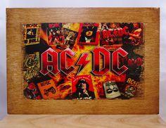 Image on wood AC DC on plywood. by VipWood on Etsy