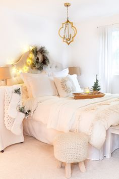 Welcome to our Deck the Halls Home Tour – Master Bedroom edition! If you have come from French Country Cottage, a special welcome to you! Courtney is incredibly talented. I just adore her dreamy, romantic style. Today, I'm excited to be sharing my Master Bedroom Tour! *This post contains affiliate links After the kitchen and family room, I …