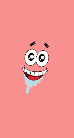 Patrick star from SpongeBob SquarePants. Big Face Parallax Wallpapers for iPhone - mobile9 #bigface #cartoon