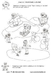 Zimné športy - Kto športuje a kto nie - reč, logika - pracovný list z ABC Winter Olympics, Diy And Crafts, Preschool, December, Winter, Embroidery, Drawing Drawing, Preschools, Kid Garden