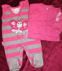 Set Baby Strampler Mädchen Baumwolle Erstausstattung Gr. 56 62 Neu EU