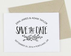 Custom Succulent Save the Date stamp custom save by papersushi