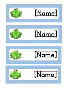 This is a FREE sample of my bundled name tags. These are EDITABLE. Frog Theme Classroom, Classroom Labels, Classroom Bulletin Boards, Classroom Resources, Classroom Decor, Name Labels, Name Tags, Preschool Songs, Student Data