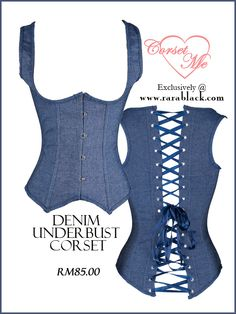 Summer denim corset. Get it at http://www.rarablack.com/store/index.php/shop/corset-me.html