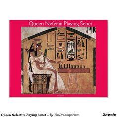 Queen Nefertiti Playing Senet Photo Print
