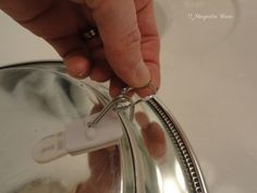 How to hang silver platters