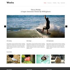 Workz is a WordPress theme I've created exclusively for release at WPExplorer.com. It features a design/function specifically for business and portfolio style websites so you can showcase your work and what your business is all about. The homepage has a custom layout driven by custom post types with a tagline, nivo image slider, homepage highlights and recent works section. The portfolio allows you to easily add unlimited items and categories via custom post types.